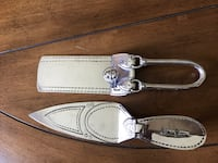 two white leather bag accessories Carol Stream, 60188