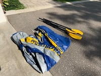 Blue explorer 200 boat and 4 paddles, I have them deflated not to bulk up my garage, we can pump them up when you pick them up! Georgetown, L7G 4T3