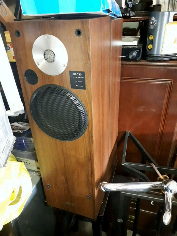 Technics Speakers Pair with Cover