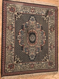 black, white, and brown floral area rug Neptune, 07753