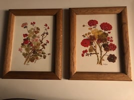 Flower picture frames