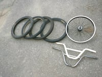 Bmx tires, wheel and handlebar Toronto, M6C 1L2