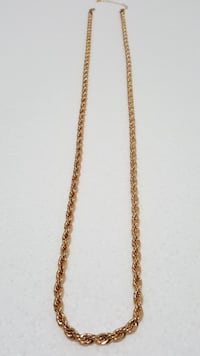 18K Gold PVD Plated Rope Chain Brampton