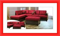 Red sectional free Ottoman and delivery Pikesville, 21208