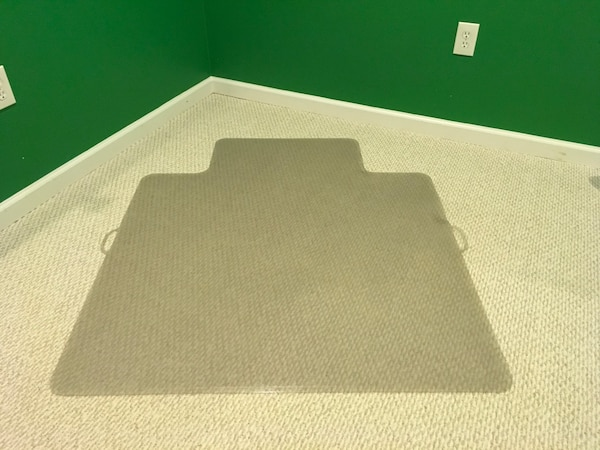 Floor Mat for Chair on Carpet Moving Sale Great Condition