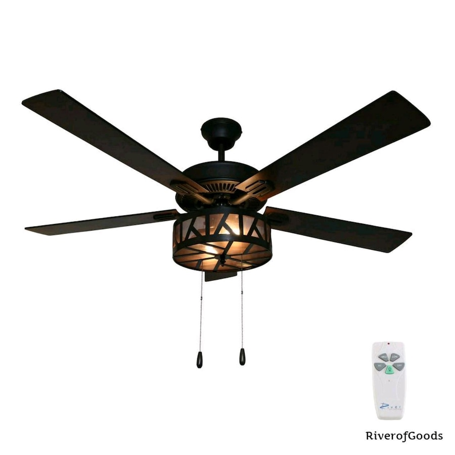 Photo River of Goods Regal 52 in. Bronze Caged Ceiling Fan with Light