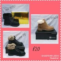 pair of black leather boots West Yorkshire, LS11 7LW