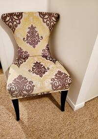 Beautiful Damask Accent Chair