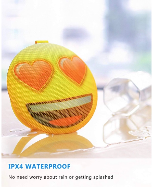 AOMAIS Emoji Bluetooth Speaker, Wireless Portable Speaker with Loud Sound,  IPX4 Water-Resistant, Built-in Mic, Stereo Pairing, Perfect for iPhone,