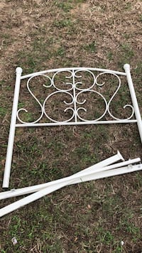 white iron wrought bed head board rails- good condition