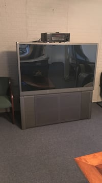 Grey rear projection tv