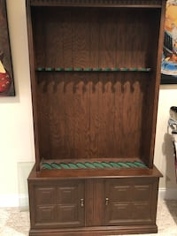 Brown wooden cabinet with shelf Oakton, 22124