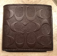 Brand new men's Coach wallet Mission