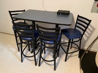 Tall table with 4 chairs Dumfries, 22025