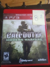 Call of Duty 4 Modern Warfare PS3 game case Laval, H7N