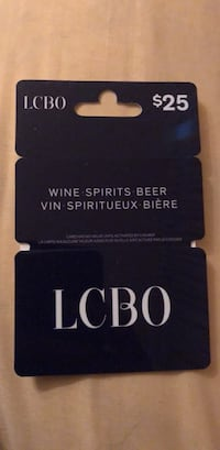 LCBO gift Card. $25 for $20 Vaughan, L4K 3L3