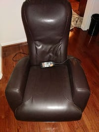 Dark brown faux leather massage chair White Plains, 20695