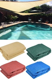 New $25 each 16.5' Triangle Sun Shade Sail Outdoor Canopy Patio Cover (Tan, Red, Green, Blue) South El Monte
