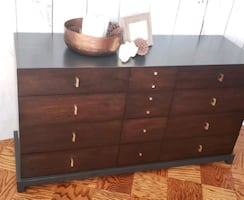 Dresser , buffet MCM completly refinished two tone..