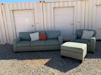 Light Green Couch and Ottoman Set Palmdale, 93551