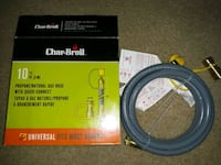 New Char Broil 10ft Propane or Natural Gas Hose