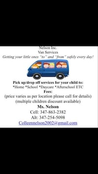Child Van Transportation New York