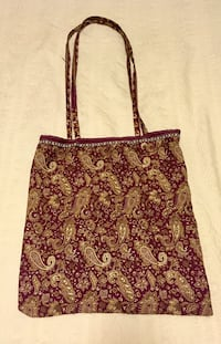 Silk Maroon Bag