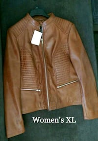 New Women's Vintage Style Moto Leather Jacket  Lake Forest