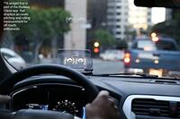 HUDWAY Glass - Universal Head-Up Display (HUD) for GPS Navigation for Any Car. Smartphone