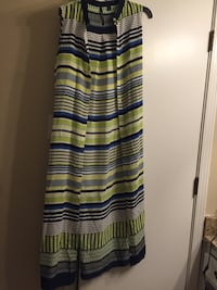 black, green, and blue stripe sleeveless dress Arlington, 76016