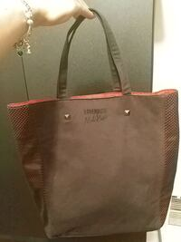 Black & red handbag cloth and pleather Toronto, M6H 4B5