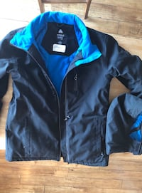 black and blue zip-up jacket 1941 km