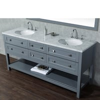 72' grey double sink vanity only Hayward, 94545