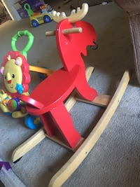 Red and yellow rocker moose  Irvine, 92604