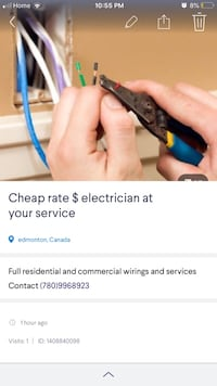 Electrical and wiring installation Edmonton, T6R 0A1
