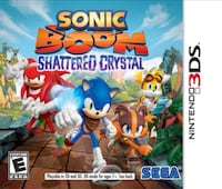Sonic Boom - Shattered Crystal - Nintendo 3ds (Sale/trade) Laval, H7W 1R9