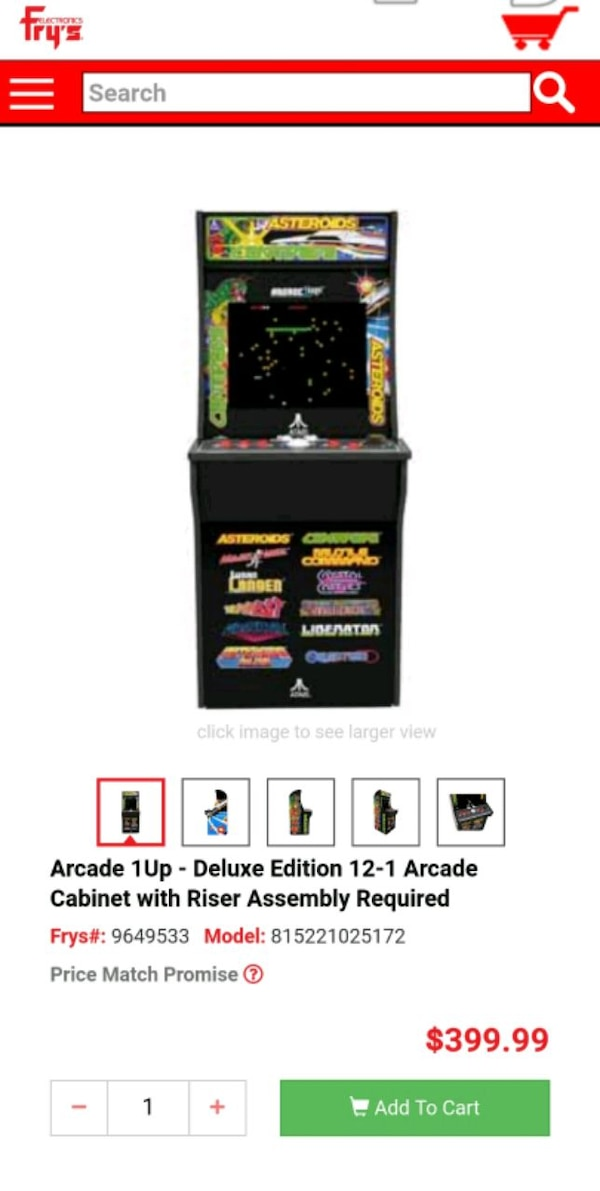 ARCADE1UP Deluxe Edition 12-in-1 Atari Arcade Game