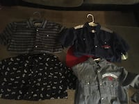 4 black and grey shirts Suitland
