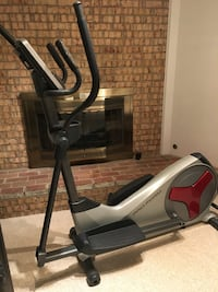 gray and black elliptical trainer 22030