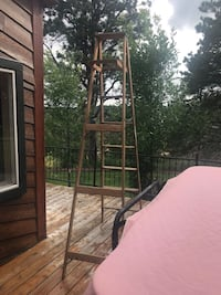 Painting time anyone? Wooden folding ladder 8' tall several years old.  Good condition Rapid City, 57702