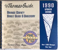 1990 Thomas Guide Orange Country Map Street Guide