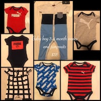 Baby boy 3-6 month onsies/outfits Greenville, 27834