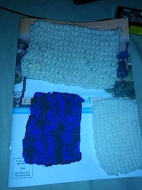 Hand knit scrubbies