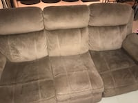 gray suede 3-seat recliner sofa West Park, 33023