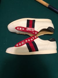 Classic Red and Blue Gucci Shoes. New York, 11207