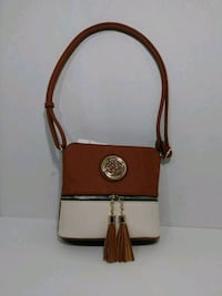 brown and black leather crossbody bag Las Vegas, 89104