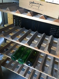 Wine Rack and home made wine essentials including bottles White Rock, V4B 1X8