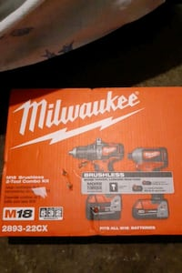 Brand new Milwaukee brushless 2 tool combo kit.