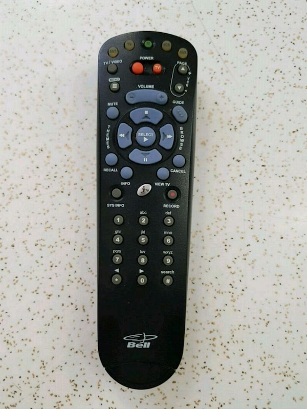 Bell TV remote control 0