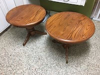 Pair of solid wood end tables  South Daytona, 32119